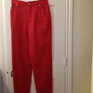 Bright Red Vintage Escada Jeans. Unworn, 27